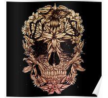 flowers skull Poster