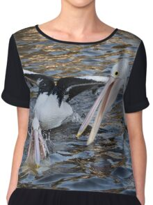 Mr & Mrs Pelican  Chiffon Top