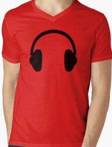 Headphones Mens V-Neck T-Shirt