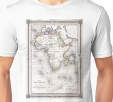 Vintage Map of Africa (1852) Unisex T-Shirt