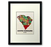 south carolina state map Framed Print