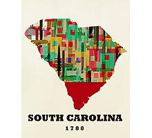 south carolina state map Photographic Print
