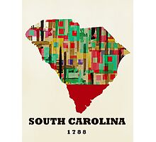 south carolina state map Photographic Print