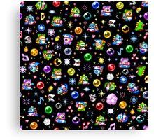 Bubble Bobble - Black Canvas Print