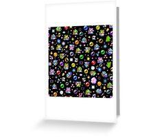 Bubble Bobble - Black Greeting Card