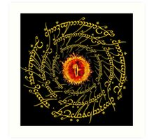 Lord Of The Ring Sauron eye Art Print