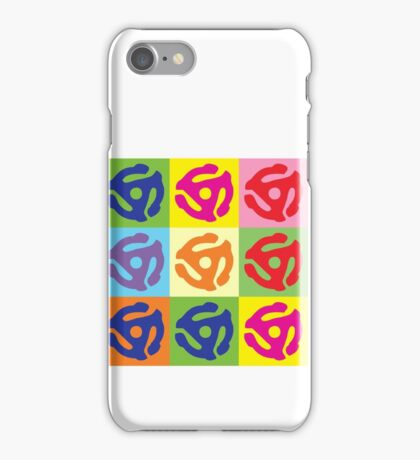 45 Record Holder Pop Art T-Shirt iPhone Case/Skin