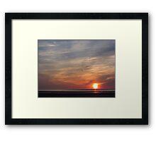 'Turner' Sunset Framed Print