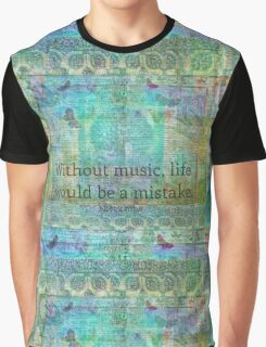 Nietzsche music quote Graphic T-Shirt