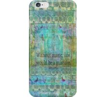 Nietzsche music quote iPhone Case/Skin