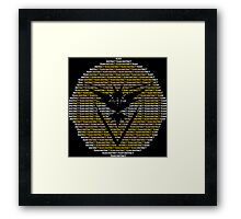 Team Instinct Framed Print