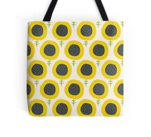 Simple abstract  sunflower pattern. Doodle pastel seamless background. Cute wallpaper. Tote Bag