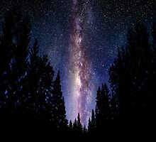 Hipster Nature Milky Way Galaxy by RoBoPaPeR