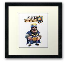 clash royale king Framed Print