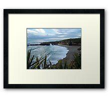 Beach near Charleston/ Westport in New Zealand Framed Print