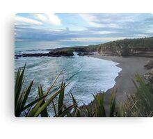 Beach near Charleston/ Westport in New Zealand Metal Print