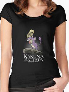 Kakuna Rattata Women's Fitted Scoop T-Shirt