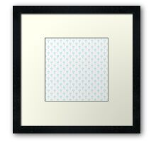 Simple little blue  flower seamless pattern. Kids cute pastel background. Framed Print