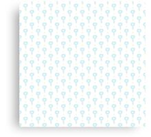 Simple little blue  flower seamless pattern. Kids cute pastel background. Canvas Print