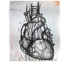 Heart Ink Painting Poster