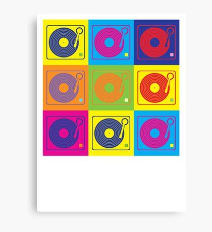 Vinyl Record Turntable Pop Art 2 Canvas Print