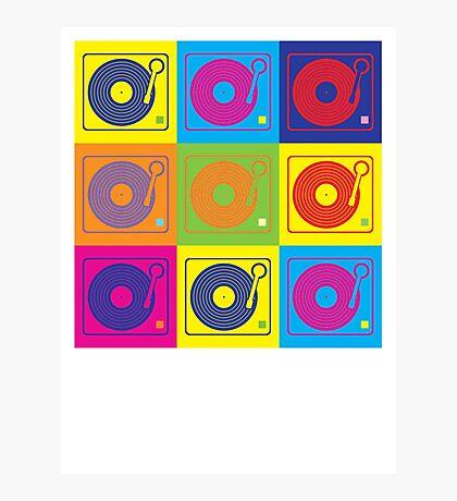 Vinyl Record Turntable Pop Art 2 Photographic Print