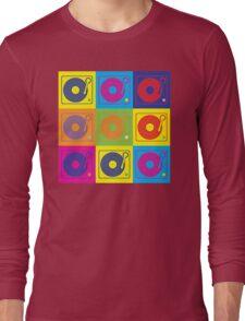 Vinyl Record Turntable Pop Art 2 Long Sleeve T-Shirt