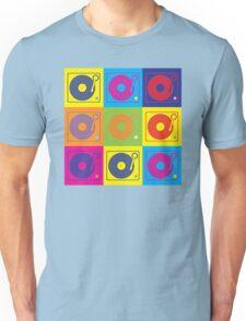 Vinyl Record Turntable Pop Art 2 Unisex T-Shirt