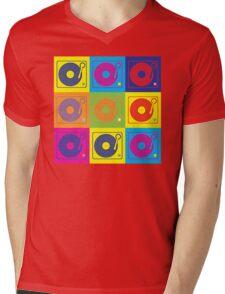 Vinyl Record Turntable Pop Art 2 Mens V-Neck T-Shirt
