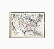Vintage United States Gold Rush Regions Map (1852) Unisex T-Shirt