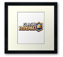 clash royale logo Framed Print