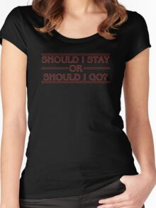 Stranger Things - Should I Stay Or Should I Go? Women's Fitted Scoop T-Shirt