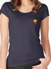 I <3 fries Women's Fitted Scoop T-Shirt