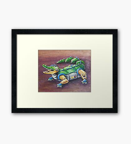 Chomp The Robo-Gator Framed Print