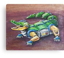 Chomp The Robo-Gator Canvas Print