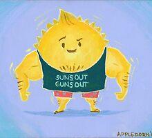 Suns out Guns out by AppledornART