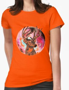 deer planet Womens Fitted T-Shirt
