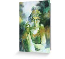 La ragazza che fumava gauloises Greeting Card