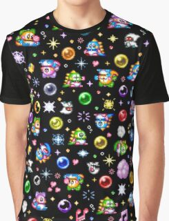 Bubble Bobble - Black Graphic T-Shirt