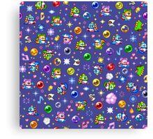 Bubble Bobble - Blue Canvas Print