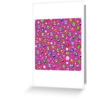Bubble Bobble - Pink Greeting Card