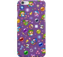 Bubble Bobble - Purple iPhone Case/Skin