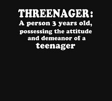 Threenager A person 3 years old funny T-Shirt Womens Fitted T-Shirt