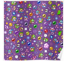Bubble Bobble - Purple Poster