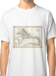 Vintage Map of The Caribbean (1852) Classic T-Shirt
