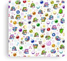 Bubble Bobble - White Canvas Print
