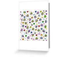 Bubble Bobble - White Greeting Card