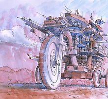 La citta in moto! by Luca Massone  disegni