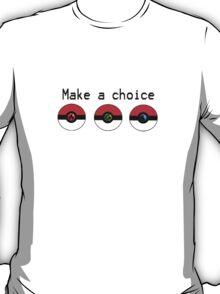 Make a Choice Pokemon Starters T-Shirt