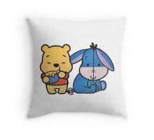Baby Eeyore And Winnie The Pooh Throw Pillow